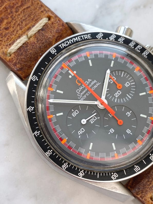 Customised Vintage Omega Speedmaster Moonwatch Chronograph with Japan Racing Dial 145022
