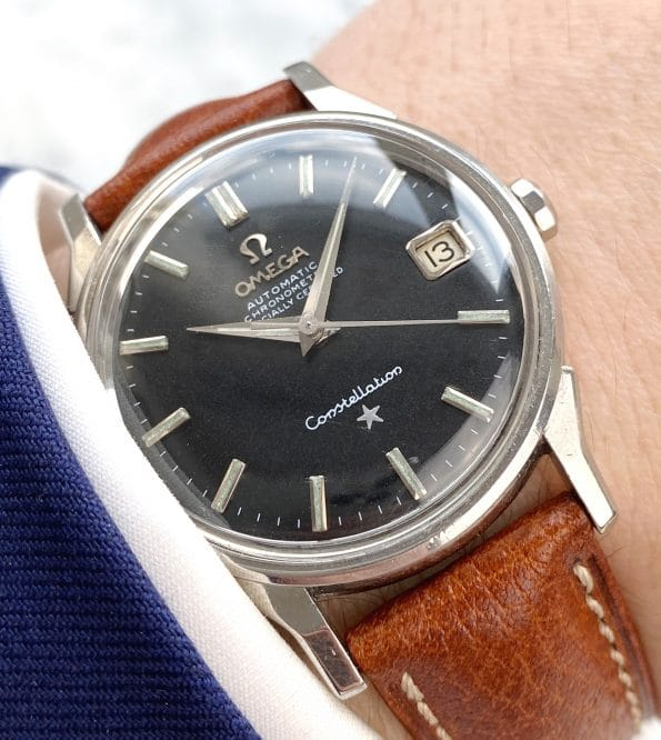 Serviced Vintage Omega Constellation Automatic Black Restored Dial