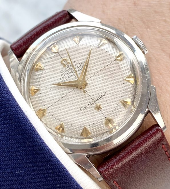 Very Rare Omega Constellation Arrowhead Markers Honeycomb dial ref 2652