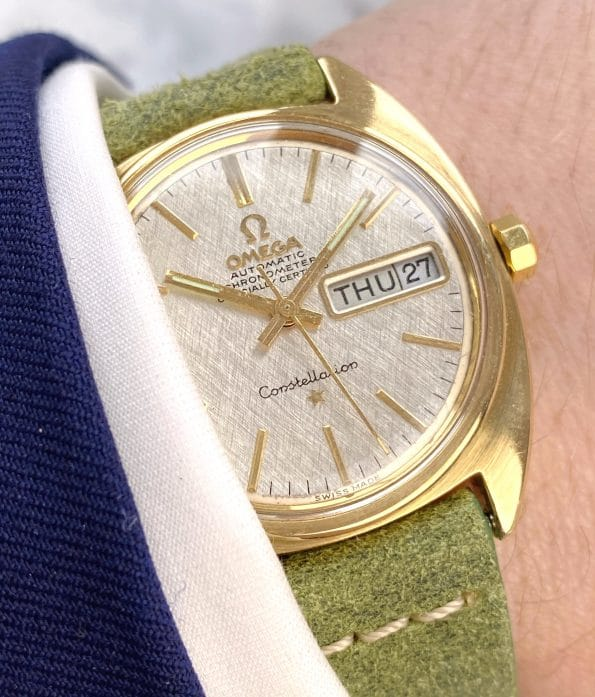Vintage Omega Constellation Day Date Automatic Linen Dial