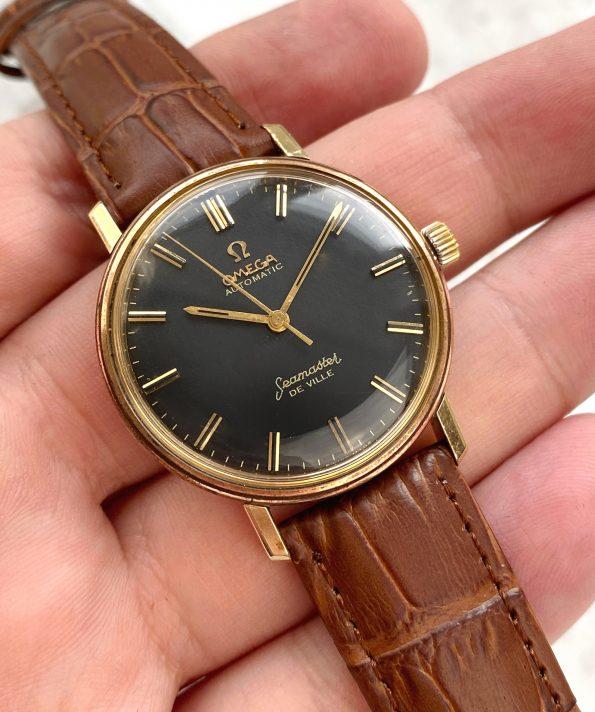 Serviced Omega Seamaster De Ville Automatic Vintage Black Restored Dial