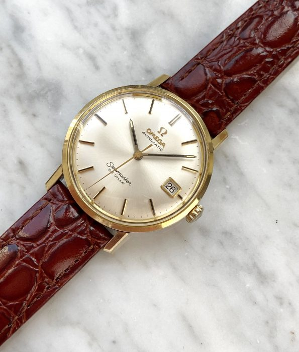Omega Seamaster De Ville Automatic Vintage Gold Plated Date