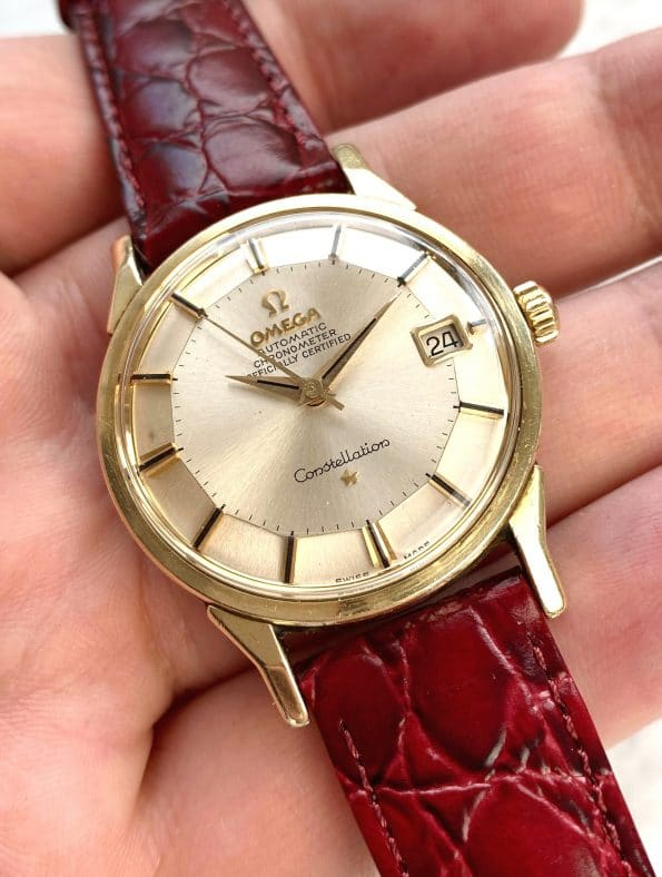 Full Set Vintage Omega Constellation Pie Pan Automatic Serviced Box Papers