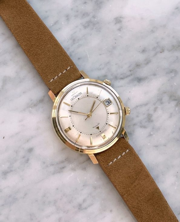 Serviced 14ct Solid Gold Jaeger LeCoultre Memovox Vintage 38mm Automatic Bumper