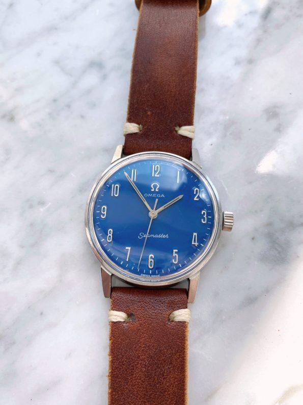Customised Omega Seamaster Handwinding Vintage Custom Blue Restored Dial 135.011