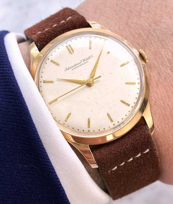 IWC Solid Pink Gold Vintage Handwinding 36mm Serviced
