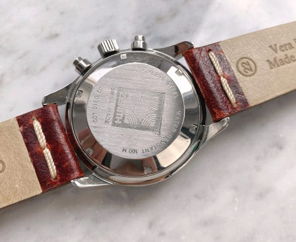 Beautiful Zenith el Primero de Luca Vintage Chronograph Reverse Panda Automatic