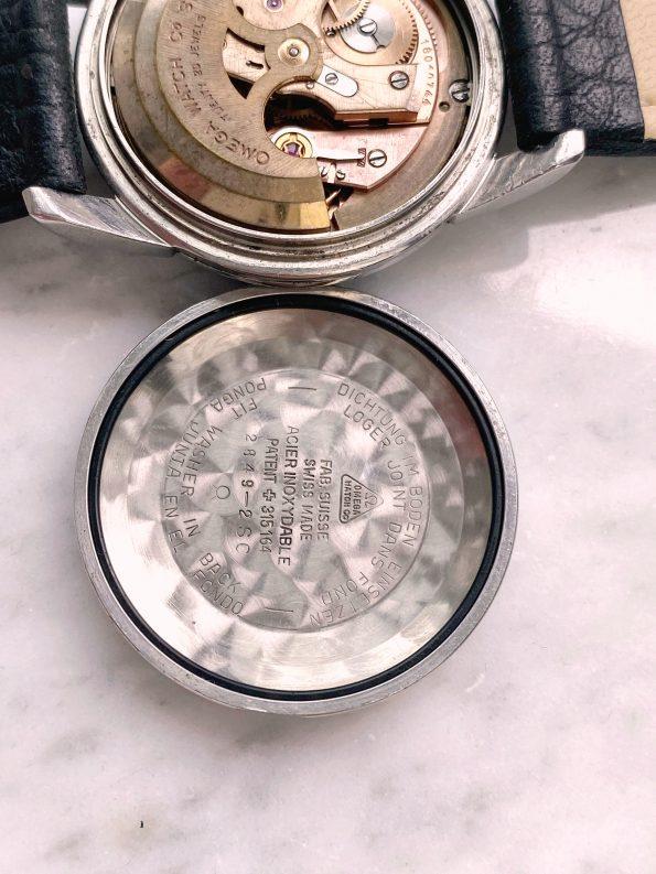 Black GILT Crosshair Dial Unrestored Omega Seamaster Automatic Vintage Steel 2849