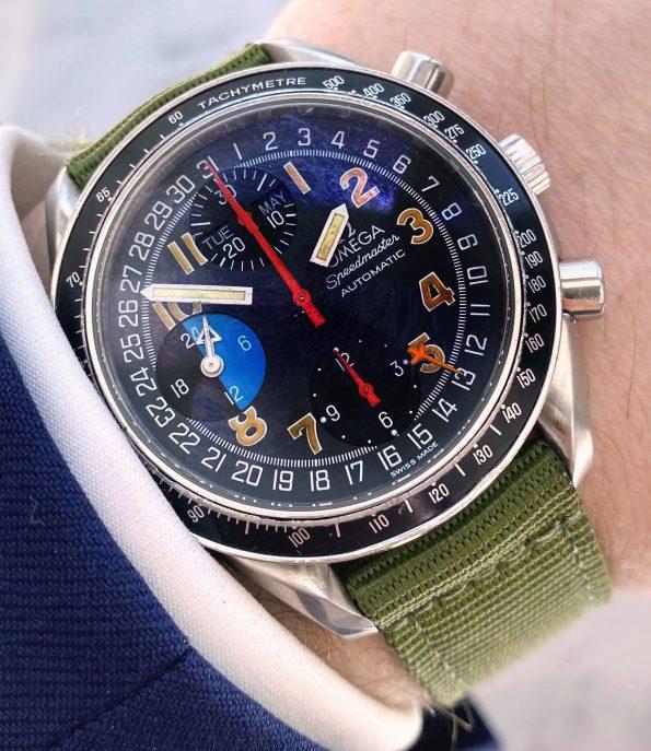 Omega Speedmaster MK40 Automatic Day Date Chronograph Ben Clymer Triple Date Ref. 352.053.00