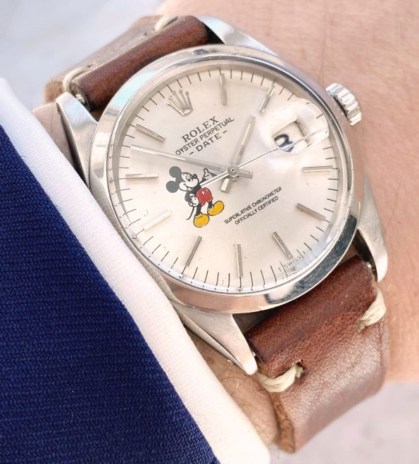 Vintage Rolex Date Automatic Customised Mickey Mouse Dial ref 1500