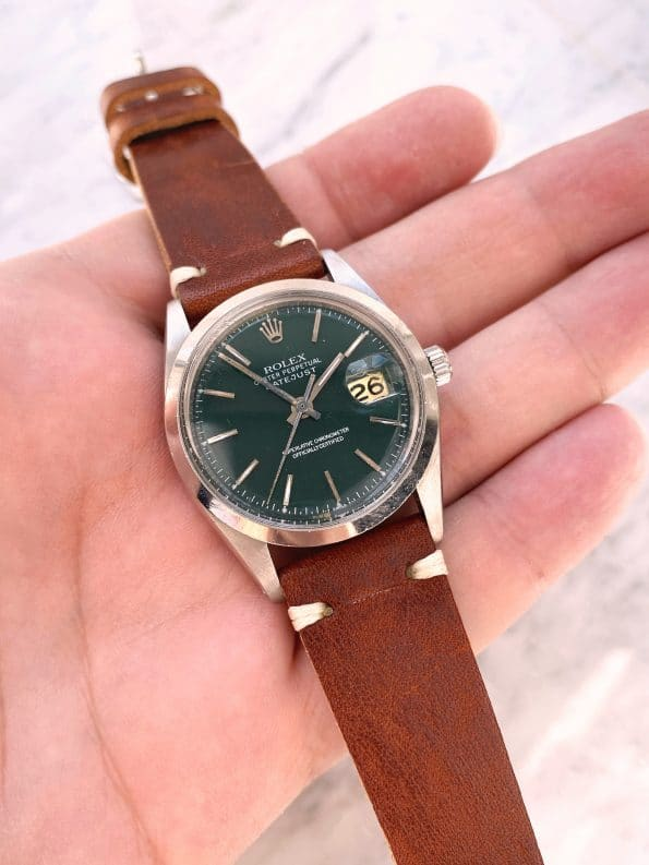 Customised Rolex Datejust 36mm Automatic Green Dial Vintage ref 1600