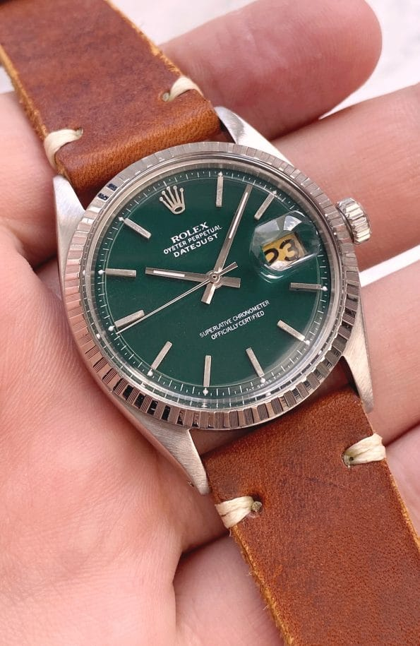 Customised Rolex Datejust 36mm Automatic Green Dial Vintage