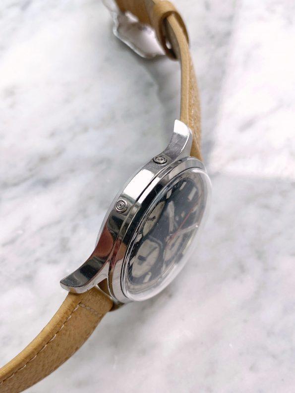 Vintage Wakmann Triple Date Reverse Panda Dial 39mm Oversize Jumbo