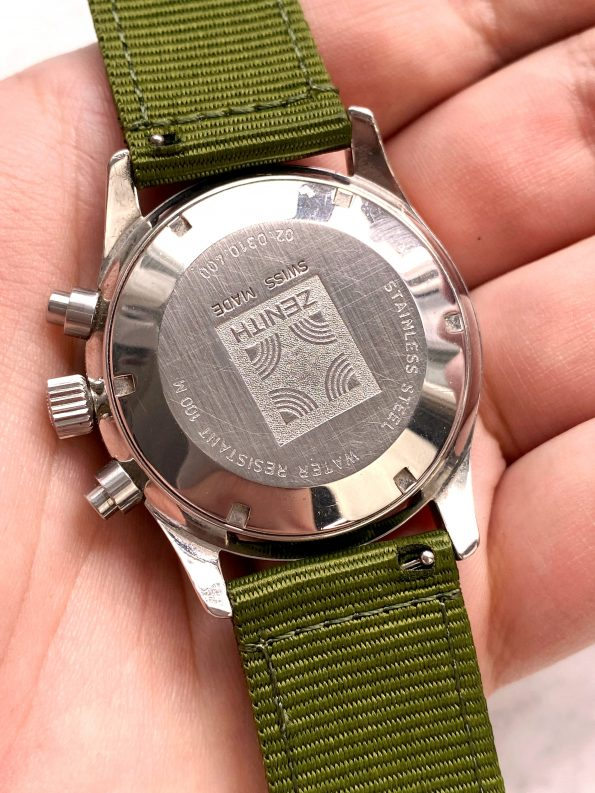 Full Set Box Papers Zenith el Primero de Luca Vintage Chronograph Panda Automatik