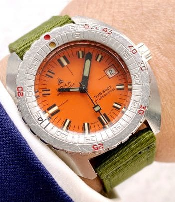 Sharkhunter Doxa Sub 300T Professional Vintage Orange Dial Automatic Synchron Seahunter Diver
