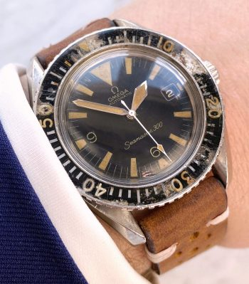 Serviced Vintage Omega Seamaster 300 Automatic Diver Big Triangle DATE