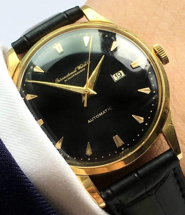 Rare IWC 36mm solid Gold Automatic black dial