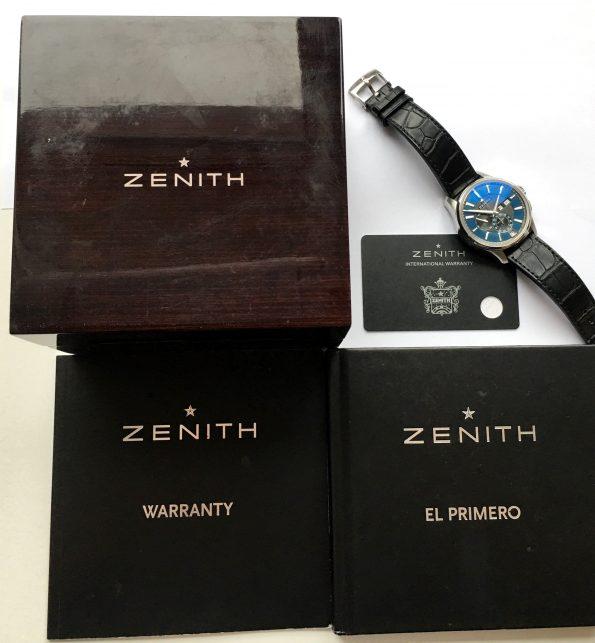 Full Set Zenith El Primero Winsor Annual Calendar blue