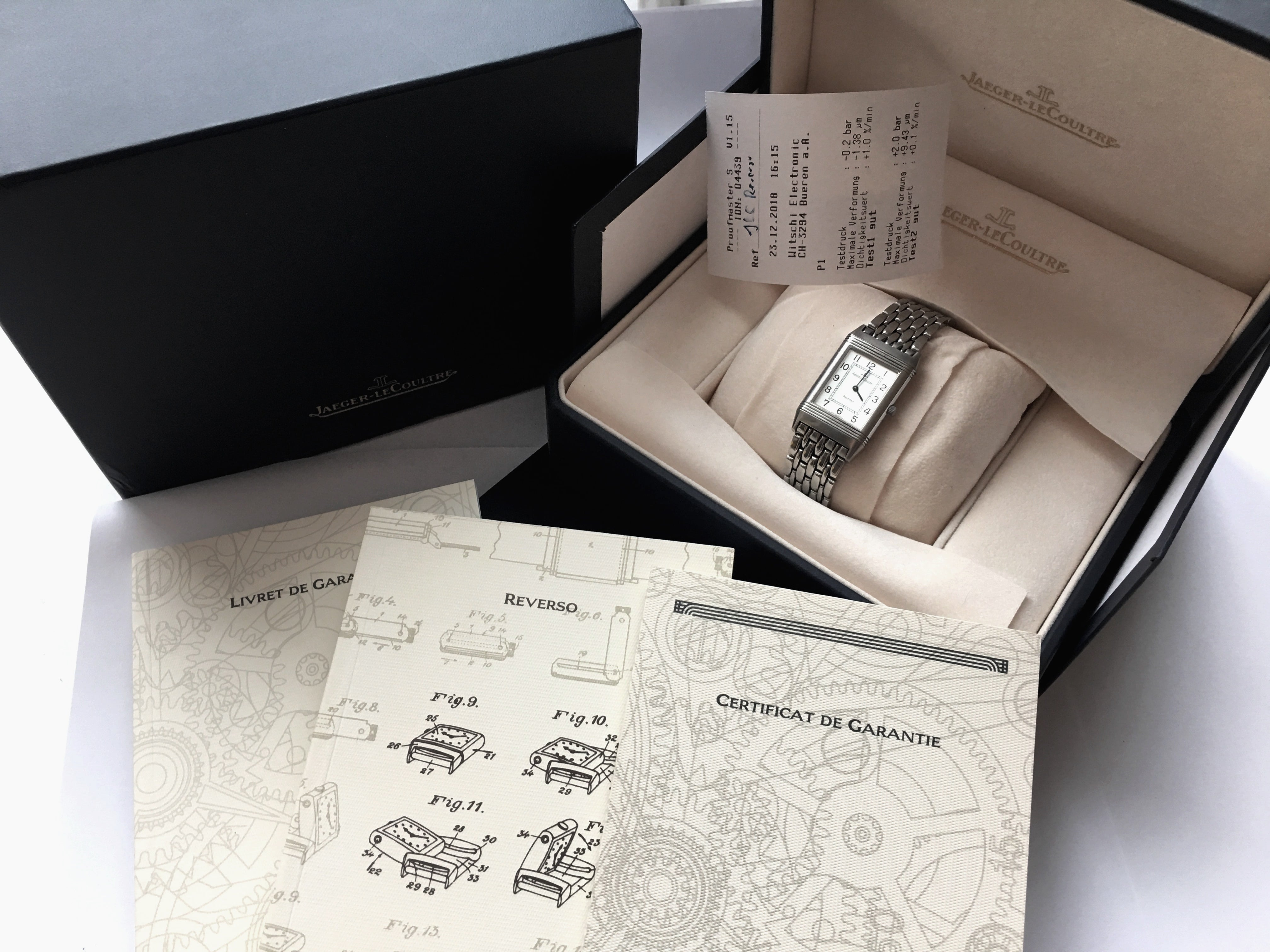 Jaeger LeCoultre Reverso Stahl Full Set Box Papiere