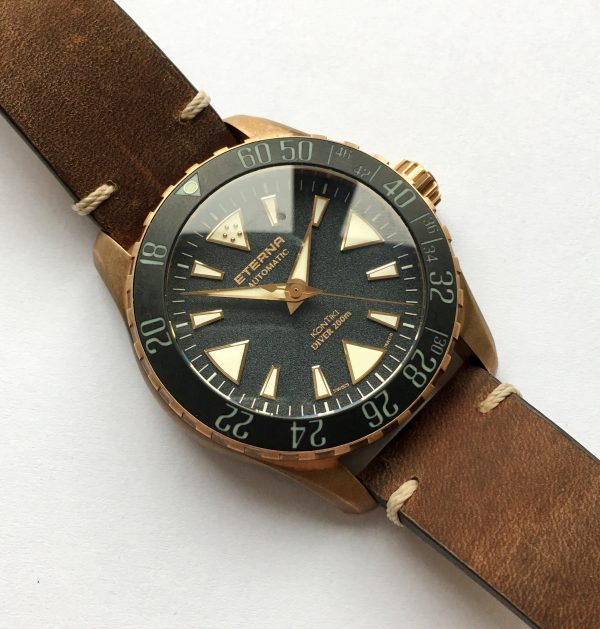 Full Set Eterna Kontiki Bronze Diver Box Papers Limited Edition