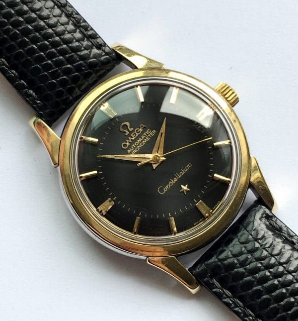 Omega Constellation Pie Pan Automatic black dial