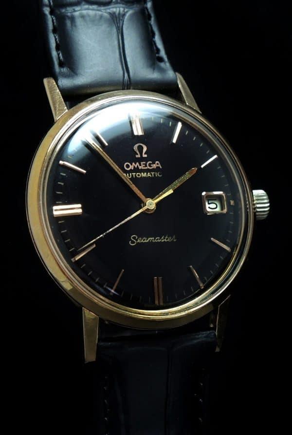 Pre De Ville Omega Seamaster Automatic Date Solid Gold