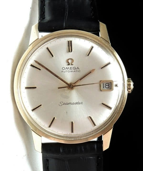 Great Omega Seamaster Automatic Date Solid Gold