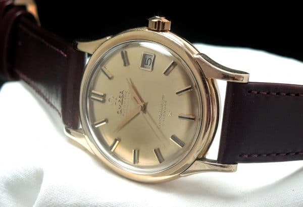 DE LUXE Omega Constellation Pie Pan Automatic PINK GOLD