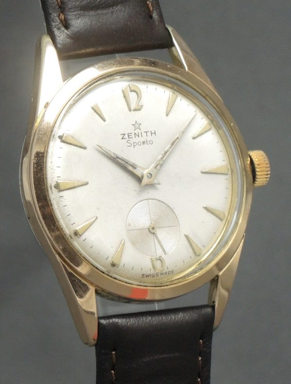 Pink gold plated Vintage Zenith Sporto Chronometer 40-T Movement